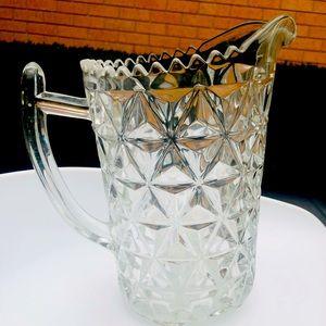 Vintage Diamond Crystal Cut Jug